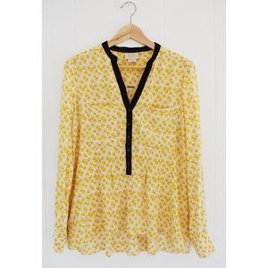 Anthropologie Vanessa Virginia Y Neck Blouse Sz 6